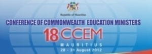 18th Conference of Commonwealth Education Ministers in Mauritius Logo