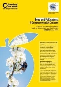 Image of the cover of CHEC's Bee and Pollinator Report on Bees and Pollinators: A Commonwealth Concern