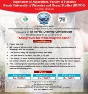 "Kerala ""Mangroves for Protecting the Earth"" drawing competition as part of CHEC's Mangrove Project"