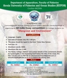 "Kerala ""Mangrove and Environment"" essay competition as part of CHEC's Mangrove Project"