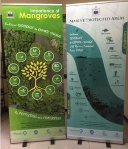 Banners prepared for World Mangrove Day  2020 in Samoa