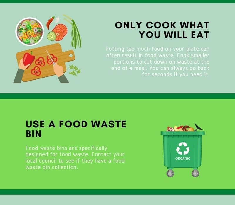 5 of the Best Tips to Limit Your Food Waste Infographic