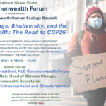 Climate Change, Biodiversity, and the Commonwealth: The Road to COP26 – Event