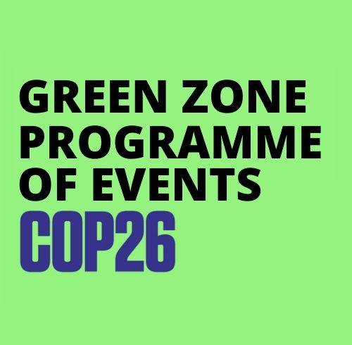The COP26 Green Zone Programme of Events